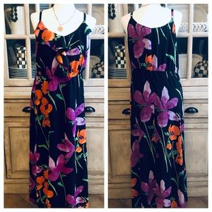 Lane Bryant Floral Spaghetti Strap Maxi Dress